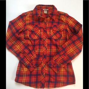 EUC Duluth Trading Co. flannel shirt red blue XS